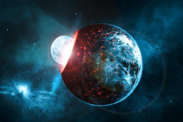 Theo các ghi chép cổ, Nibiru được bao phủ trong một đám mây bụi oxit sắt màu đỏ