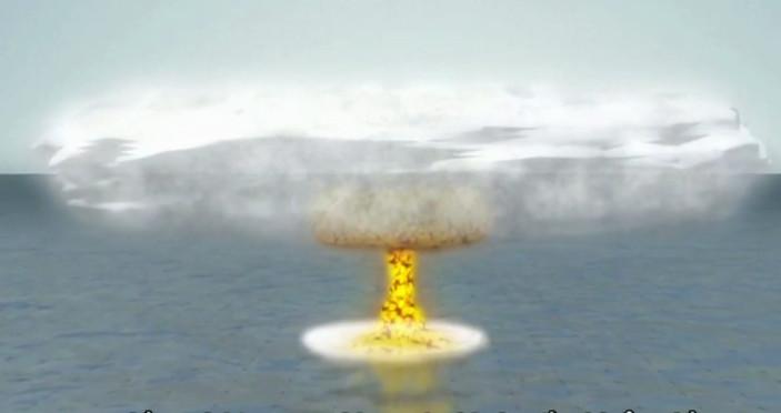 Lúc đầu, vụ nổ sẽ giết chết phần lớn cá và sinh vật biển ở khu vực phát nổ.