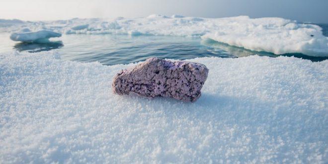 Khối polystyrene được tìm thấy tại Bắc Cực.
