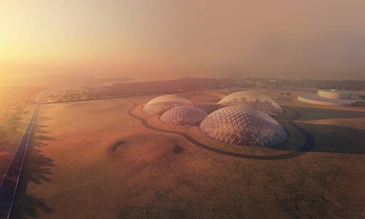 Thành phố sẽ gồm nhiều công trình với kiến trúc hình vòm nối liền nhau.