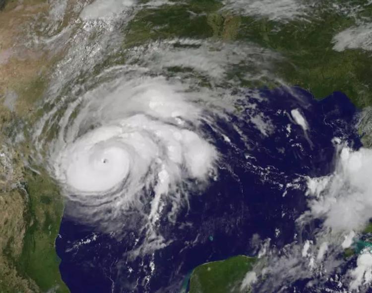 Bão Harvey nhìn từ vệ tinh.
