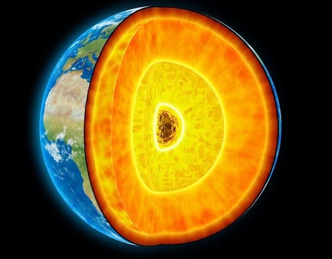 Trái đất sở hữu một lớp lõi có nhiệt độ lên đến khoảng 6.000 độ C