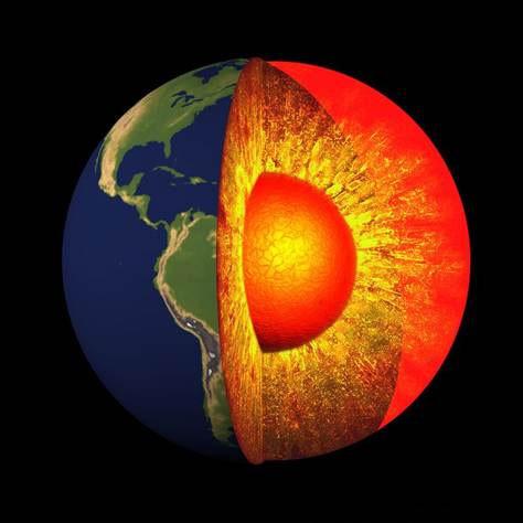 Lớp lõi trong của Trái đất là nơi cứng nhất.