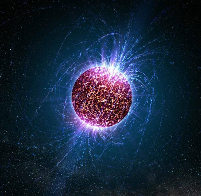 Minh họa sao neutron.