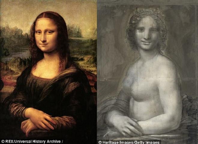 Bức hình bên phải liệu có phải là bản vẽ Mona Lisa khỏa thân của Leonardo da Vinci?