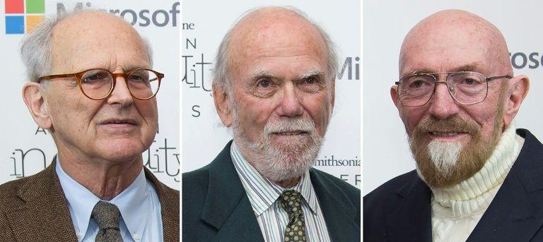 Ba nhà khoa học đoạt giải Nobel Vật lý 2017: Rainer Weiss, Barry Barish và Kip Thorne.