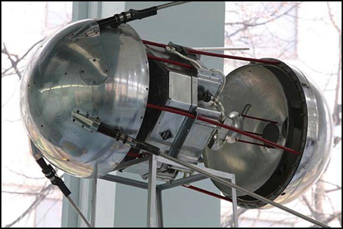 Mô hình Sputnik ở Viện bảo tàng du hành vũ trụ tại Moscow.