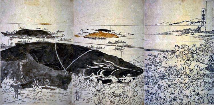 Người Okino xưa kia sống bằng nghề săn cá voi.