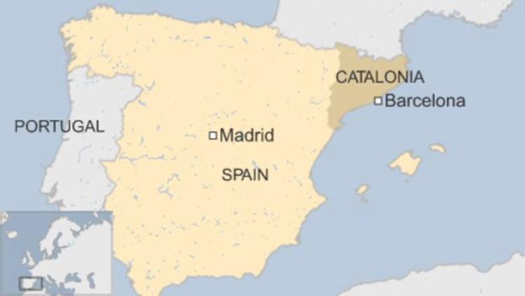 Bản đồ vị trí xứ Catalan