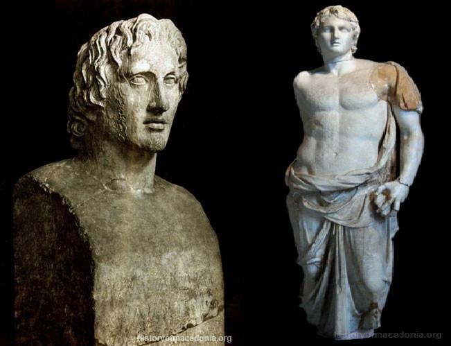 Tượng của Alexander Đại đế được đặt tại nhiều bảo tàng trên thế giới.