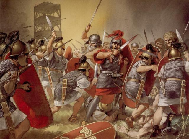 Nhờ tài chỉ huy, Caesar đã thắng trận dù bị áp đảo về quân số.