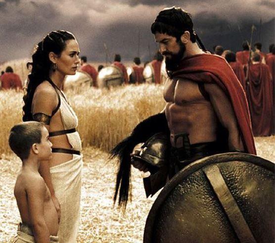 Hình tượng Leonidas trong bộ phim 300.