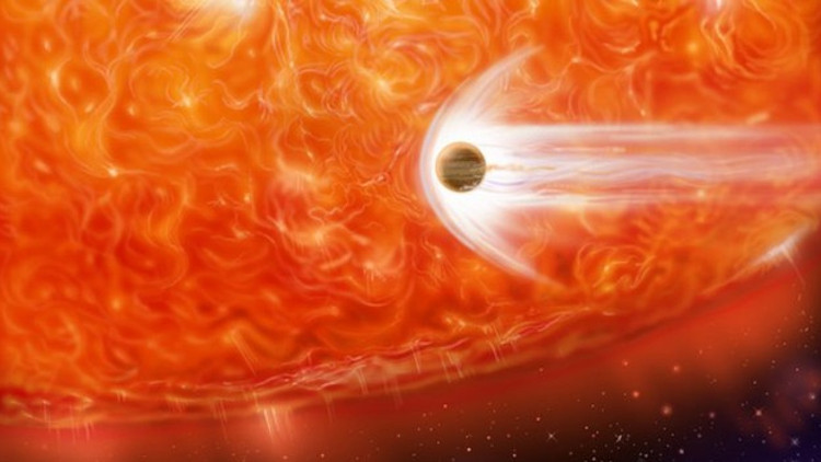 Khi trở thành sao khổng lồ đỏ, Mặt Trời sẽ phình ra và nuốt chửng các hành tinh xung quanh.