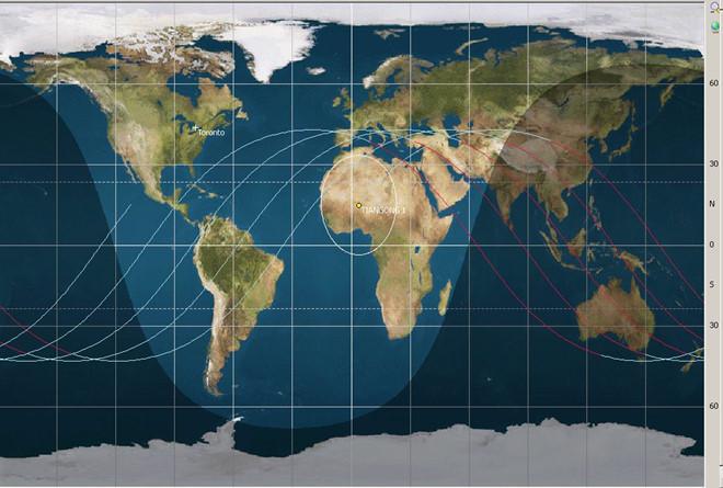 Đồ họa mô phỏng quỹ đạo của trạm vũ trụ Thiên Cung 1 vào tháng 6/2013.