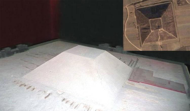 Ảnh minh họa kim tự tháp trắng ở Tây An, Trung Quốc.