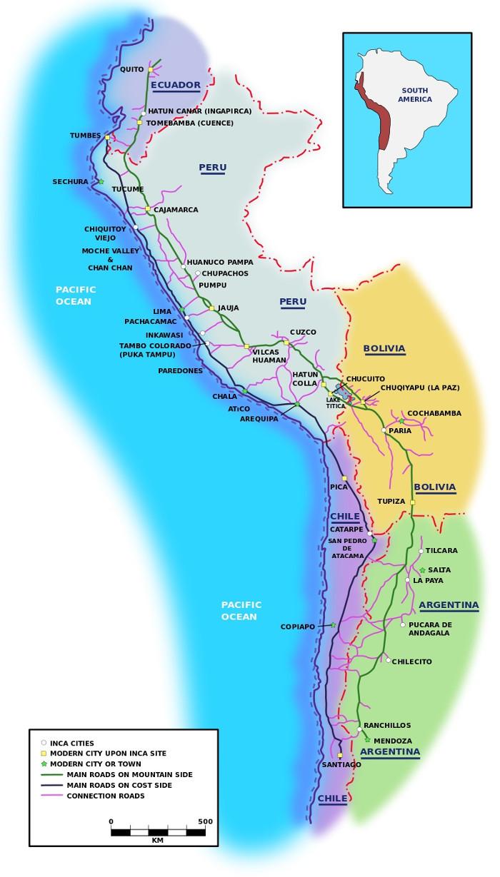 Hệ thống đường bộ của Đế chế Inca cổ đại.