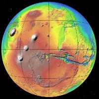 Bản đồ sao Hỏa mới nhất