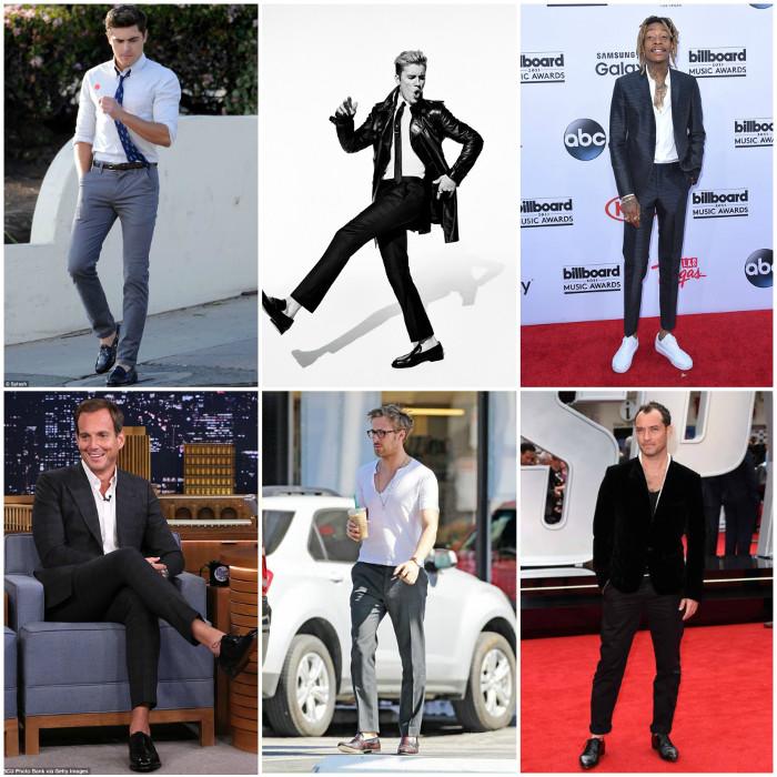Nhiều ngôi sao nổi tiếng thế giới rất thích sockless style khi đi giày.