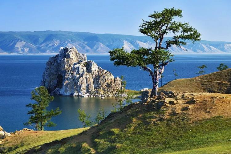 Một góc hồ Baikal.