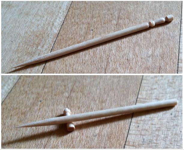Vòng khấc nhỏ này ở phần cuối tăm sẽ được người dùng bẻ đi sau khi sử dụng.