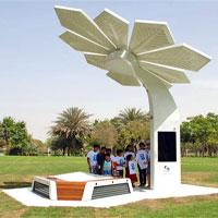 Video: Cây nhân tạo sạc điện thoại, phát Wi-Fi miễn phí ở Dubai