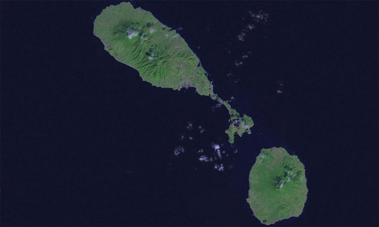 Liên bang Saint Kitts và Nevis là quốc đảo nằm ở biển Caribbean.
