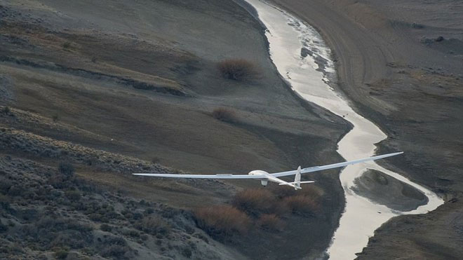 Perlan 2 ở độ cao 14km nhìn xuống đất.