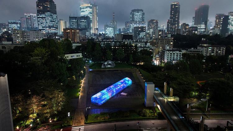 Khung của khu nhà kính này được trang bị đèn LED.