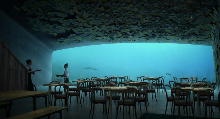 Bên trong nhà hàng dưới biển.