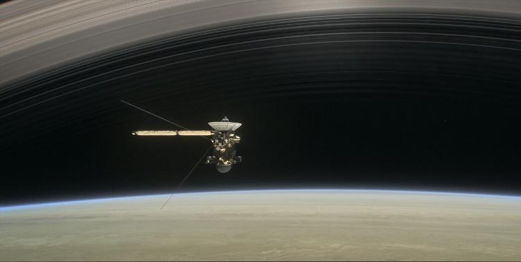 Tàu Cassini thực hiện nhiệm vụ tự sát trên sao Thổ.