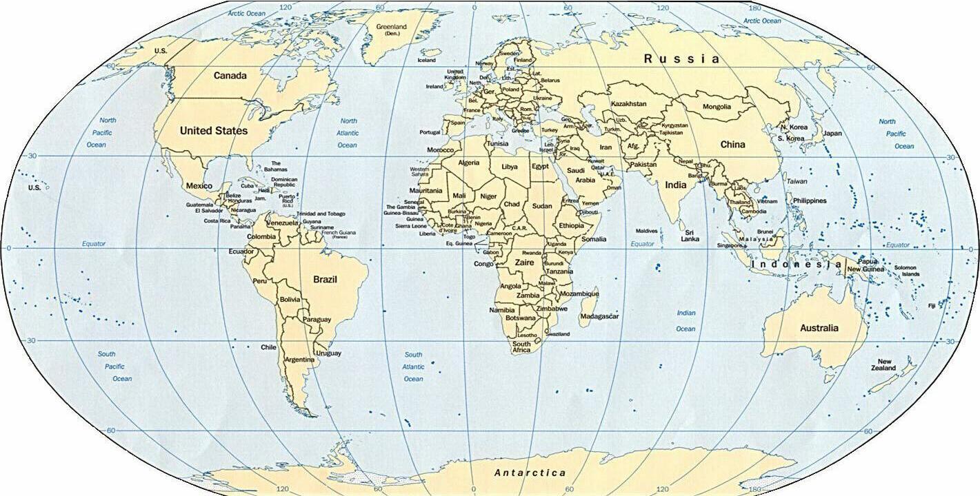 Mẫu Bản đồ thế giới