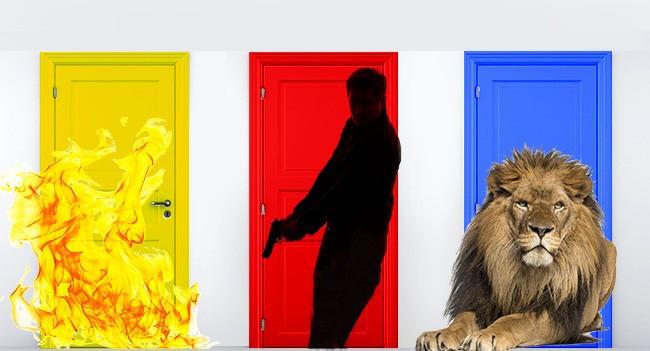 Chọn cánh cửa nào thì bạn sống sót?