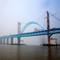 Trung Quốc xây cầu vòm thép dài nhất thế giới