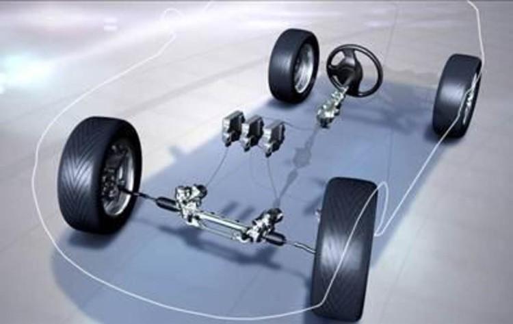Hệ thống lái điện tử Drive By Wire cho phép điều khiển dẫn hướng xe bằng các tín hiệu điện tử và truyền động thủy lực.