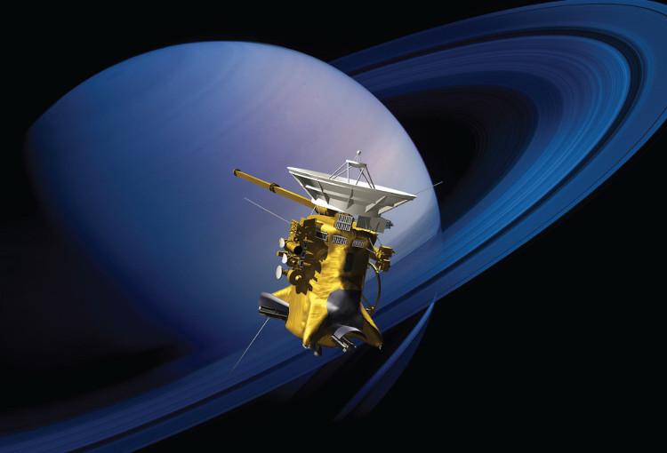 Các dữ liệu của Cassini cho thấy một đám mây băng độc hại khổng lồ trên cực nam của mặt trăng này.