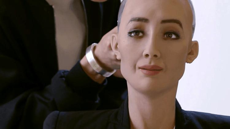 Robot ại Hội nghị Sáng kiến Đầu tư Tương lai.