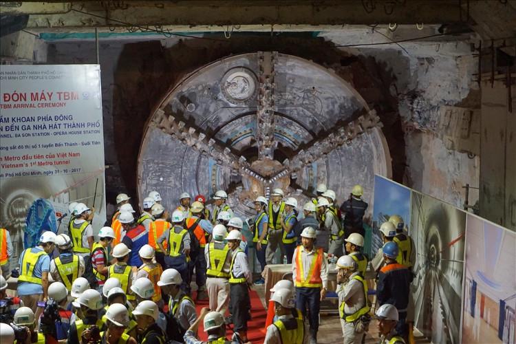 Hầm metro Bến Thành-Suối Tiên hoàn thành vượt tiến độ 1 tháng.