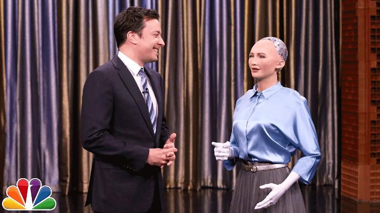 Robot Sophia trên sóng truyền hình