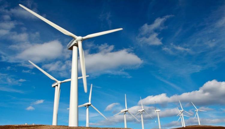 Các tuabin gió được đặt trên trụ cao để thu hầu hết năng lượng gió.
