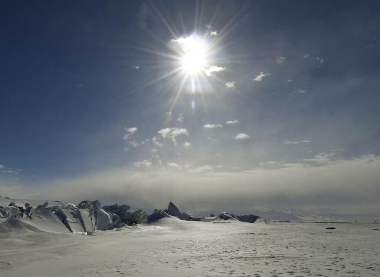 Những tảng băng lớn trên Biển Ross ở Nam Cực ngày 12/11.