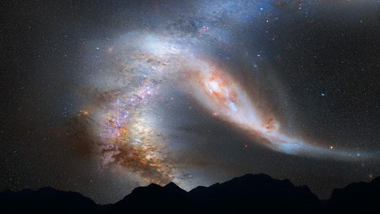 Sự sáp nhập giữa Ngân Hà và thiên hà Andromeda trong vài tỷ năm tới