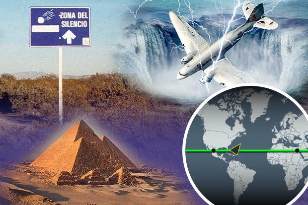Vùng Im Lặng có cùng vĩ độ với Tam giác Quỷ Bermuda và các Kim tự tháp Ai Cập.