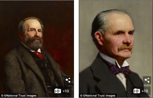 Ông Edward Hussey III (1807-1894) và con trai Edwy (1855-1952).