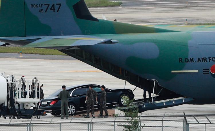 Mercedes-Benz S600 Maybach Guard phục vụ Tổng thống Hàn Quốc đã xuất hiện tại Đà Nẵng.
