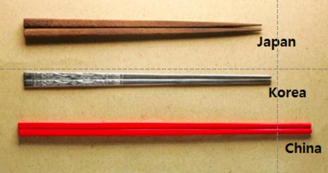 Sự khác nhau giữa đũa Nhật Bản, Hàn Quốc và Trung Quốc.