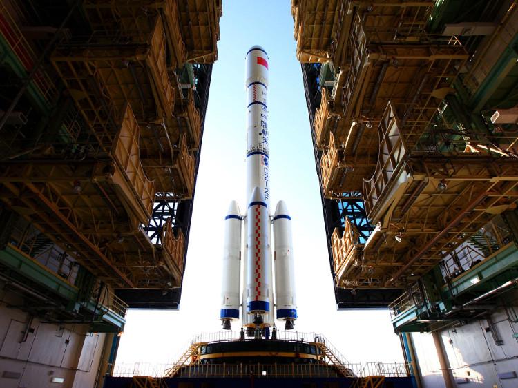 Thiên Cung 1 trước khi phóng lên vũ trụ.