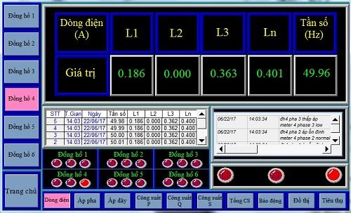 Giao diện điều khiển của hệ thống có thể hiện thị thông tin bằng cà tiếng Việt lẫn tiếng Anh
