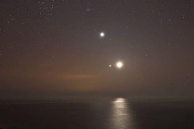 Bạn có thể quan sát sao Mộc và Sao Kim gần nhau.