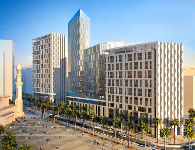 Được thiết kế bởi hãng Henning Larsen, cả dự án có diện tích khoảng 1,6 triệu m2
