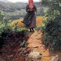 Vật thể giống smartphone trong bức tranh thế kỷ 19